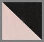 розовый кварц/черный оникс