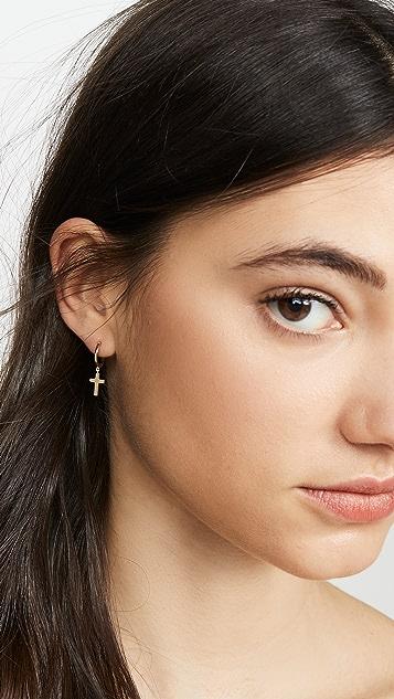 Jennifer Zeuner Jewelry Серьги Theresa с невидимой застежкой