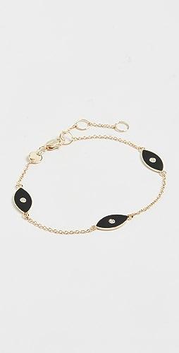 Jennifer Zeuner Jewelry - Nazar Enamel Trio Bracelet