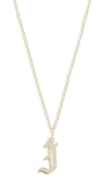 Jennifer Zeuner Jewelry Emmanuelle Initial Necklace