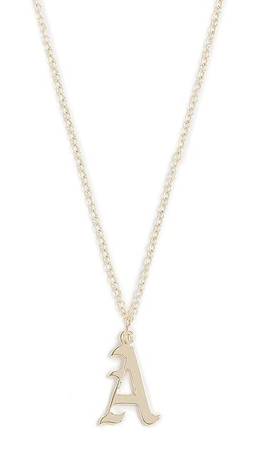 Jennifer Zeuner Jewelry Emmanuelle Initial 项链