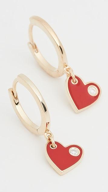 Jennifer Zeuner Jewelry Mia 珐琅贴耳耳环