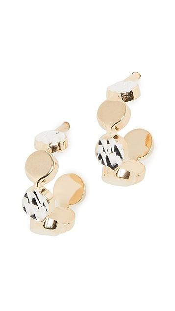 Jennifer Zeuner Jewelry Bea XS 小号圈式耳环