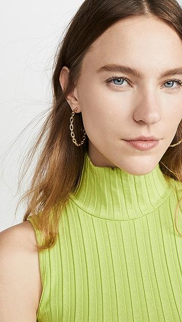 Jennifer Zeuner Jewelry Carmine 圈式耳环