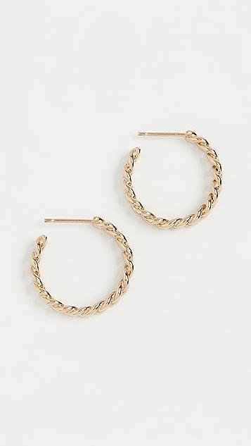 Jennifer Zeuner Jewelry Charly 小号圈式耳环