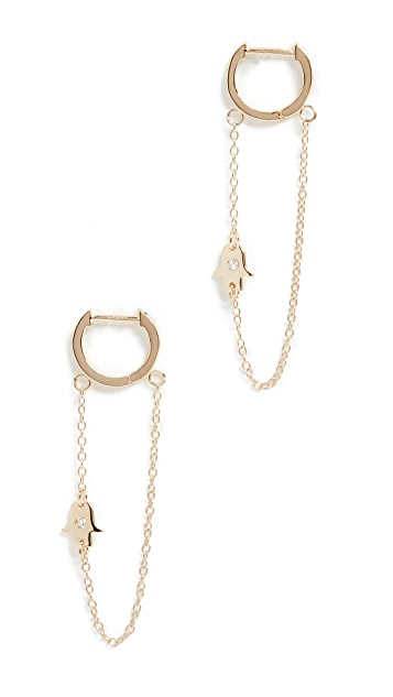 Jennifer Zeuner Jewelry Vanna Huggie Earrings
