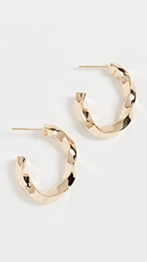 Jennifer Zeuner Jewelry Emalia Hoops