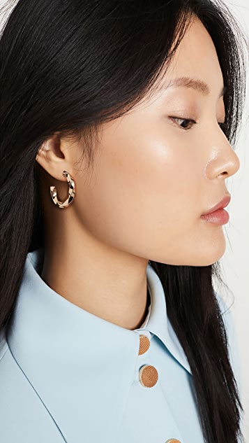 Jennifer Zeuner Jewelry Emalia 圈式耳环