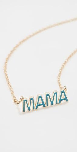 Jennifer Zeuner Jewelry - Mama Mercer Enamel Necklace