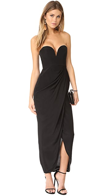 Zimmermann Strapless Drape Maxi Dress