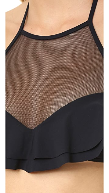 Zimmermann Separates Frill Halter Bikini Top