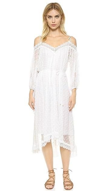 Zimmermann Платье Realm с зубчатой отделкой