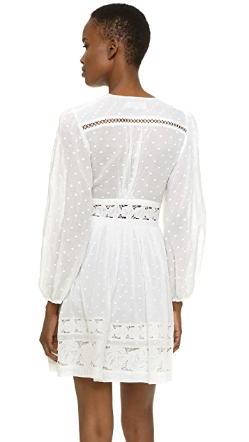 Zimmermann Realm Embroidered Panel Dress