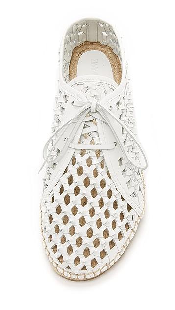 Zimmermann Woven Leather Espadrille Sneakers