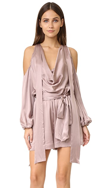 Zimmermann Sueded Billow Playsuit