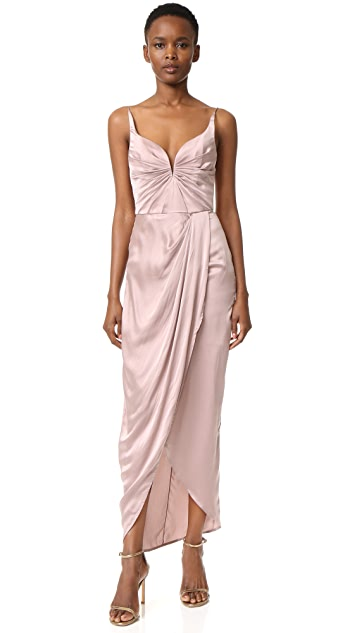 Zimmermann Sueded Drape Long Dress