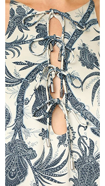 Zimmermann Adorn Tie Up Shift Dress