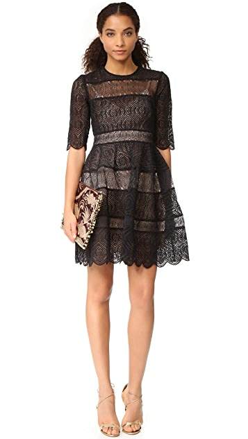 Zimmermann Adorn Embroidered Mini Bell Dress