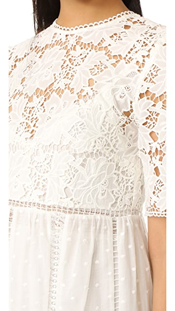 Zimmermann Caravan Embroidered Day Dress