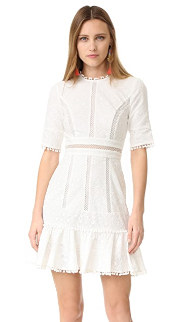 Zimmermann Caravan Embroidered Flip Dress