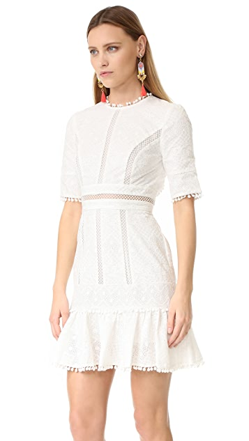 Zimmermann Caravan Embroidered Flip Dress