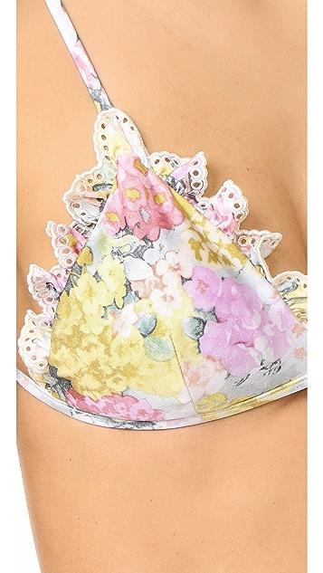 Zimmermann Valour Embroidery Frill Bikini
