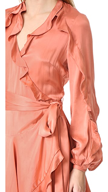 Zimmermann Winsome Flutter Robe Dress