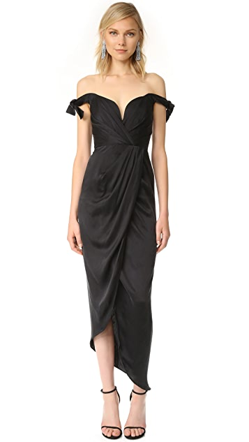 Draping cocktail dresses