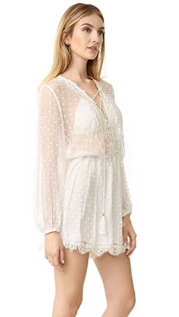 Zimmermann Oleander Lattice Romper