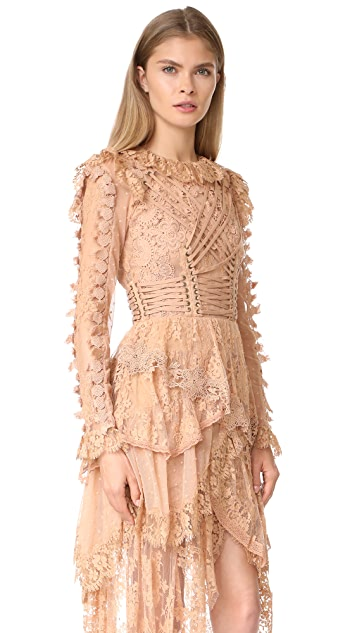 Zimmermann Bowerbird Romance Mini Dress
