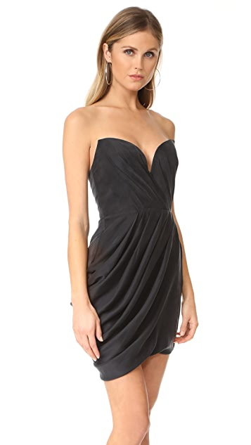 Zimmermann Sueded Drape Bodice Dress