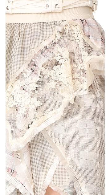 Zimmermann Cavalier Plaid Skirt