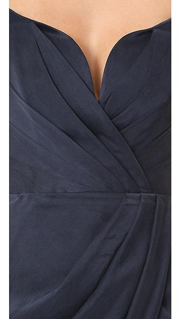 Zimmermann Winsome Drape Cocktail Midi Dress