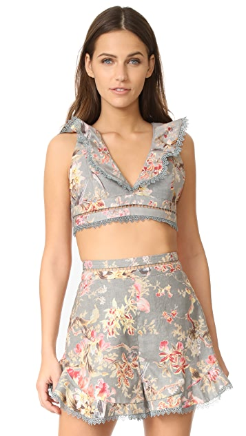 Zimmermann Mercer Flutter Frill Top