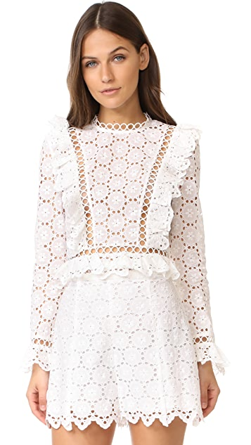 Zimmermann Divinity Wheel Frill Top