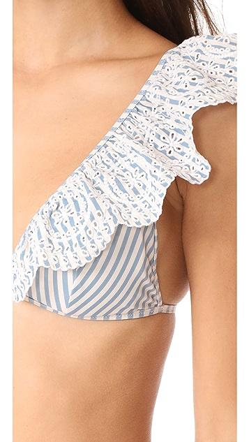 Zimmermann Meridian Stripe Triangle Bikini