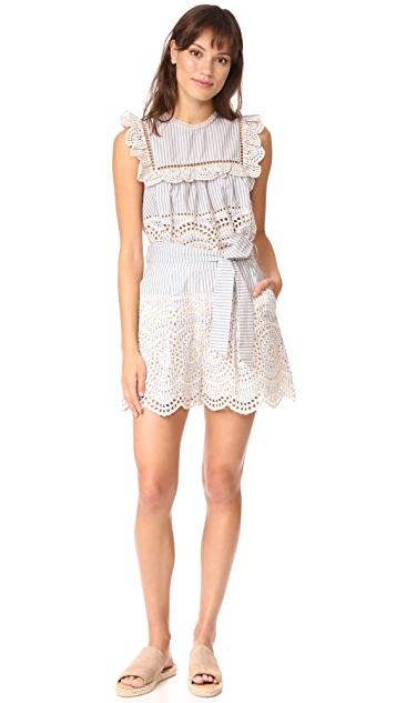 Zimmermann Meridian Stripe Shorts