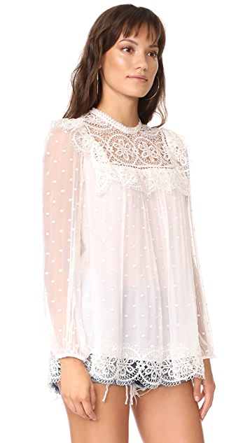 Zimmermann Meridian Circle Lace Top