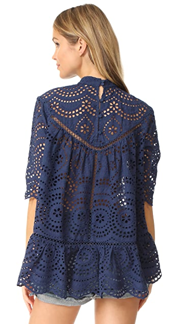 Zimmermann Paradiso Embroidered Blouse
