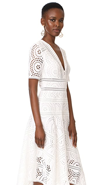 Zimmermann Meridian Embroidered Dress