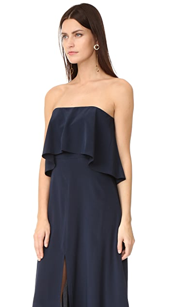 Zimmermann Silk Strapless Flounce Dress