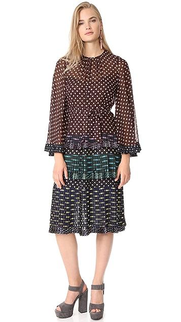 Zimmermann Maples Pleated Tier Dress