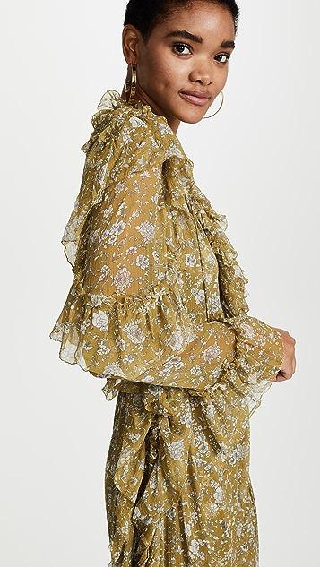 Zimmermann Rife Ruffle Dress