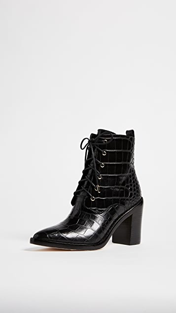 Zimmermann Lace Up Dress Booties