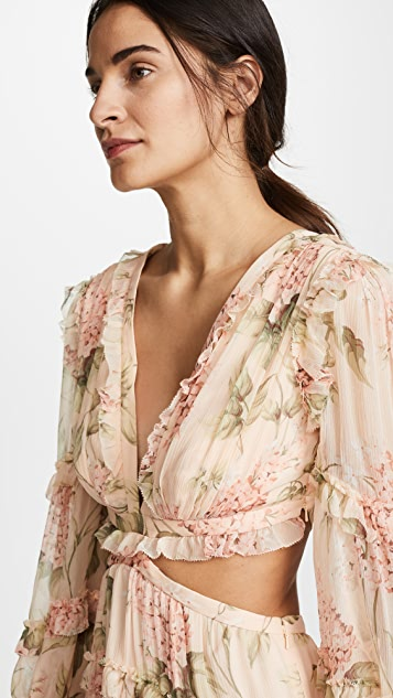 f32dd270c8ec3 Zimmermann Prima Floating Cutout Dress | SHOPBOP