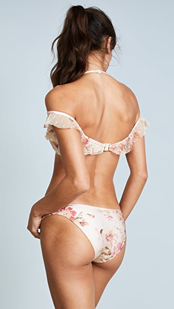 Zimmermann Corsair Shoulder Ruffle Bikini