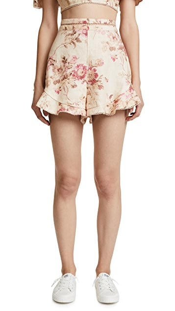 Zimmermann Corsair Flutter Shorts