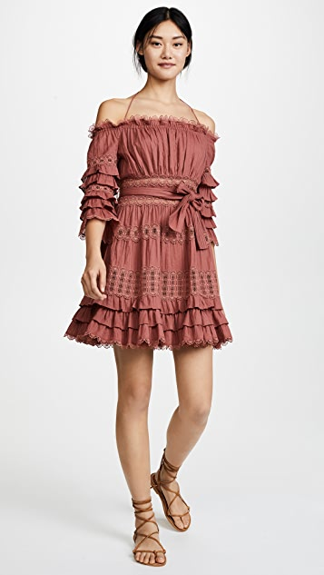 Zimmermann Corsair Frill Tier Dress