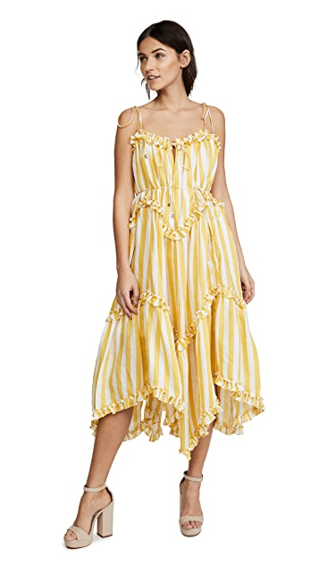 Zimmermann Lumino Floating Stripe Dress