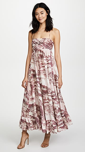 Zimmermann Kali Hawaiian Long Dress - Hawaiian Print